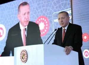 ウイグル人問題で揺れるエルドアン大統領(トルコ与党「公正発展党」公式サイトから)