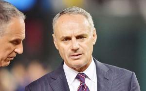 球宴開催地変更を発表した米大リーグ(MLB)コミッショナーのロブ・マンフレッド氏(UPI)