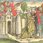 独人文学者ハルトマン・シェーデル「ニュルンベルク年代記」1493年出版、歴史的地震の状況(ZAMG公式サイトから)