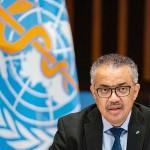 世界保健機関(WHO)のテドロス事務局長=1月21日、ジュネーブ(AFP時事)