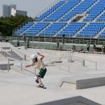 公開された東京・有明アーバンスポーツパークのスケートボードの会場