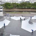 公開された東京・有明アーバンスポーツパークのBMXの会場