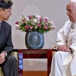 天皇閣下を謁見したフランシスコ教皇(2019年11月25日、バチカンニュース公式サイトから)