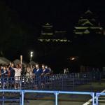 熊本城二の丸駐車場では無観客で行われた
