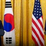 バイデン米大統領との共同記者会見に臨む文在寅大統領(2021年5月22日、韓国大統領府公式サイトから)