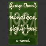 The first-edition front cover of the novel Nineteen Eighty-Four