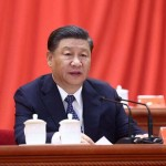科学技術の自己強化を訴える習近平国家主席(2021年5月28日、新華社通信)