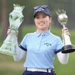 女子ゴルフの西村優菜、「60台」意識で戴冠