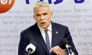 イスラエルの中道政党イェシュアティド党首のラピド元財務相=5月31日、エルサレム(AFP時事)