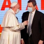 ドラギ首相とフランシスコ教皇