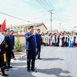 習近平主席、青海省海北チベット族自治州剛察県を突然視察(2021年6月8日、新華社通信から)