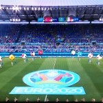 サッカー欧州選手権が11日、ローマで開幕(オーストリア国営放送の中継から、2021年6月11日)