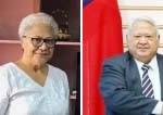 ツイラエパ首相(右)とファースト党党首のフィアメ氏(サモア外務省HPから)