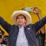 ペルー大統領選候補者のペドロ・カスティジョ氏=7日、リマ(AFP時事)