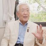 取材に応じる1964年東京五輪で選手村職員を務めた三枝勝さん=16日、神奈川県大和市