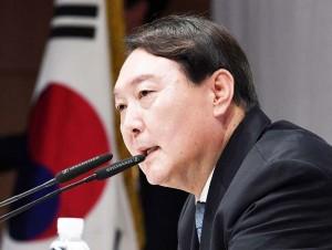 韓国大統領候補の尹錫悅前検事総長=6月29日、ソウル(AFP時事)