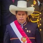 28日、リマで、就任式を終えたペルーのペドロ・カスチィジョ新大統領(APF時事)