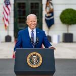 独立記念日で演説するバイデン米大統領(ホワイトハウス公式サイトから、2021年7月4日)