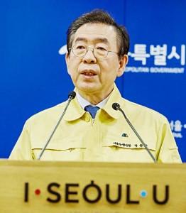 セクハラ容疑で告訴され、自殺した朴元淳・前ソウル市長(EPA時事)