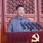 党創建100年の記念式典で演説する習近平国家主席(2021年7月1日、新華社国営通信)