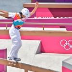 スケートボード女子ストリートで金メダルを獲得した西矢椛選手