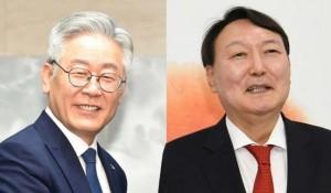 来年の韓国大統領選への出馬を表明した尹錫悦氏(右)と李在明氏(韓国紙セゲイルボ提供)