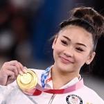 体操女子個人総合で優勝した米国代表のスニーサ・リー選手=7月29日、東京(AFP時事)