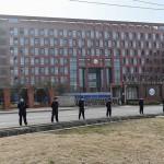 中国湖北省の武漢ウイルス研究所=2月3日撮影(AFP時事)