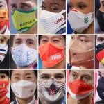 マスク五輪。新型コロナウイルス感染症が拡大する中で開催された東京五輪。マスク姿の選手たちは自由に行動できず、さまざまな制約の中で競技に臨んだ。マスクには工夫を凝らしたデザインが施され、各国の個性が表れた。