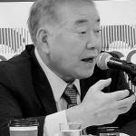 韓国大統領府の統一外交安保特別補佐官を兼務していた外交安保専門家文正仁延世大名誉特任教授(当時。現在は世宗研究所理事長など)=2018年6月15日、ソウル(当時)