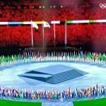 第32回東京夏季五輪大会の閉会式シーン(2021年8月8日、オーストリア国営放送の中継から)