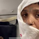 カブールの国際空港でのアフガニスタン女性(8月26日、UPI)