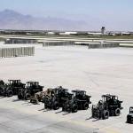 8月8日、米軍およびNATO軍の軍用機すべてが撤退したアフガニスタン東部・バグラム空軍基地(UPI)
