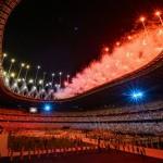 8日、東京五輪の閉会式の一場面(UPI)
