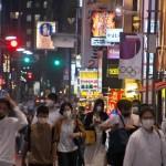 6月21日、東京・新橋の様子 (UPI)