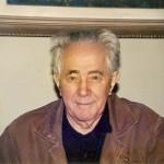 旧ユーゴ連邦の実態を暴露したミロヴァン・ジラス(1986年12月15日、ベオグラードのジラス氏宅で撮影)