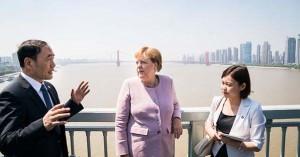 新型コロナ感染初期に武漢市を視察したメルケル独首相(2019年9月、独連邦首相府公式サイトから)