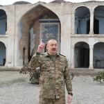 アゼルバイジャンのアリエフ大統領=2020年11月、アグダム、当局提供写真(AFP時事)