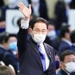 自民党の新総裁に選出された岸田文雄氏=29日午後、東京都港区