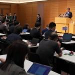 記者会見で自民党総裁選への出馬を表明した河野太郎行革相=10日午後、衆議院会館