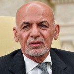 アフガニスタンのガニ大統領=6月25日、ワシントン(AFP時事)