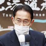 衆院選が公示され、第一声を上げる岸田文雄首相(自民党総裁)=19日午前、福島市