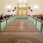 14日、テヘランで行われたイラン外務省と欧州連合(EU)欧州対外活動庁(EEAS)の高官会談=イラン外務省提供(AFP時事)
