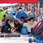 旺角(モンコック)のデモ現場