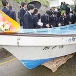 米漂着の実習船、故郷に