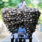 心配な大量輸送 スリランカのジャフナで