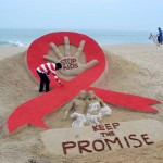 砂のアートでストップ・エイズ