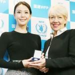 知花くららさん、WFPの日本大使に任命