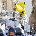 感謝祭の名物、人気キャラクターたちの大行進